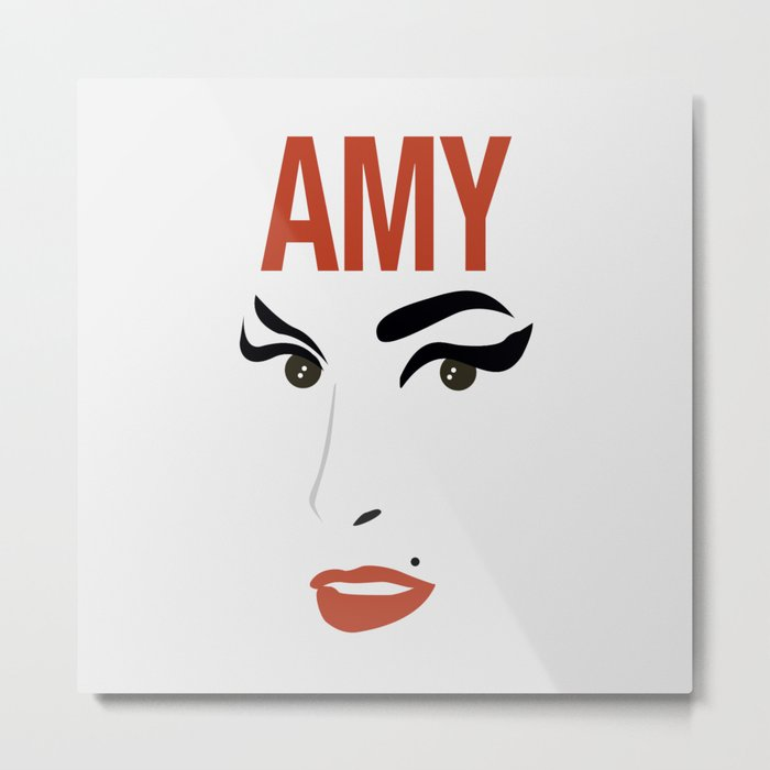Amy Back to Black Metal Print