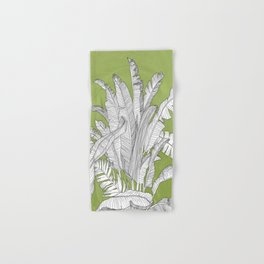 Banana Leaves Illustration - Green Hand & Bath Towel