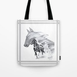 Trotting Up A Storm Tote Bag