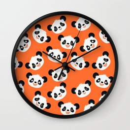 Happy Pandas Wall Clock
