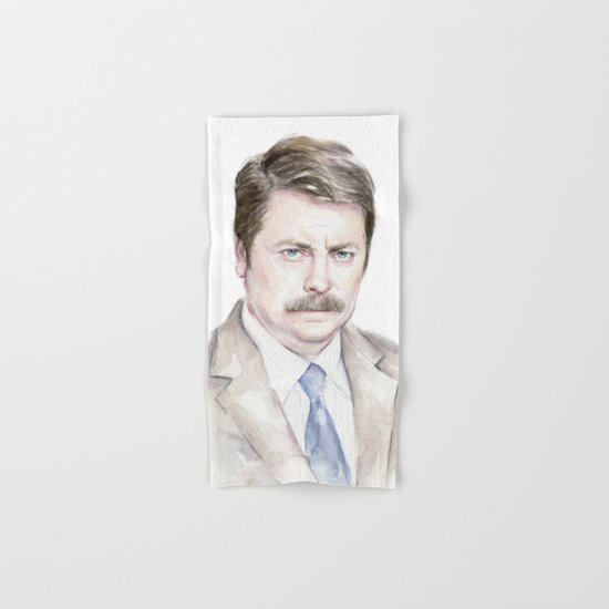 Swanson Watercolor Ron Hand & Bath Towel