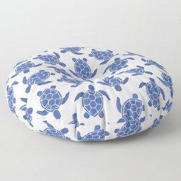 Sea Turtle in Classic Blue Floor Pillow