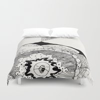 skyfall Duvet Covers featuring skyfall by Kyle Ellsworth