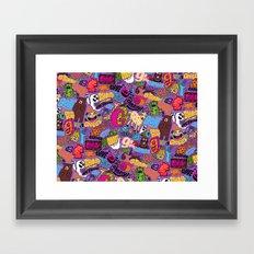 G Pattern Framed Art Print