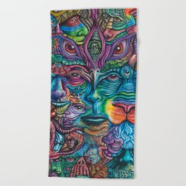 Reyes De La Jungla (Kings of the Jungle) By Tyler Aalbu Beach Towel