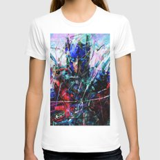 OPTIMUS PRIME SMALL Womens Fitted Tee White
