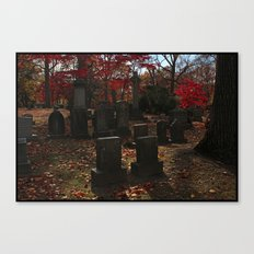 Cemetery Red Canvas Print