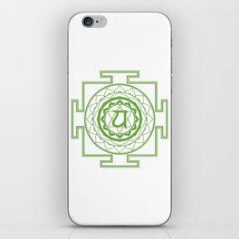 Sri Yantra Heart Chakra iPhone Skin
