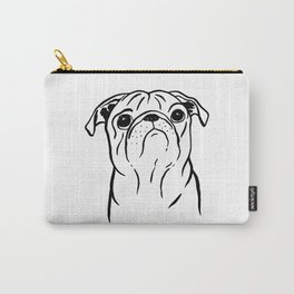 Pug (Black and White) Carry-All Pouch