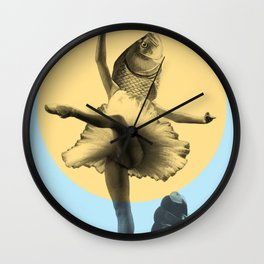 Ballerina Fish Wall Clock