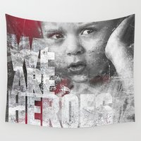 toddler Wall Tapestries featuring Hero Sessions III by HappyMelvin