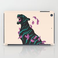 tiger iPad Cases featuring Black tiger by Roland Banrevi