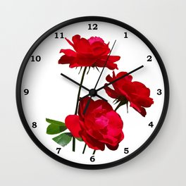 Roses are red, really red! Wall Clock