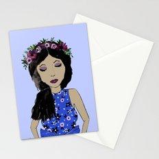 LAVENDER FASHION GIRL Stationery Cards
