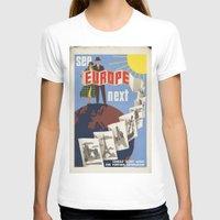 europe T-shirts featuring EUROPE by Kathead Tarot/David Rivera