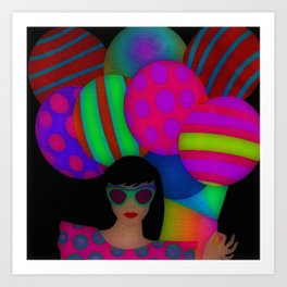 Fun With Coloring Balloons Electric Art Print