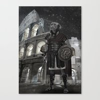 gladiator Canvas Prints featuring Neapolitan Mastiff Gladiator  by Barruf