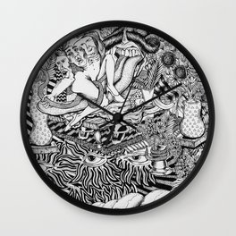 Mind Control Pizza Gypsies  Wall Clock