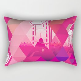 Raspberry Popsicle Rectangular Pillow