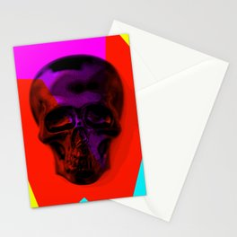 Skull on colours Stationery Cards