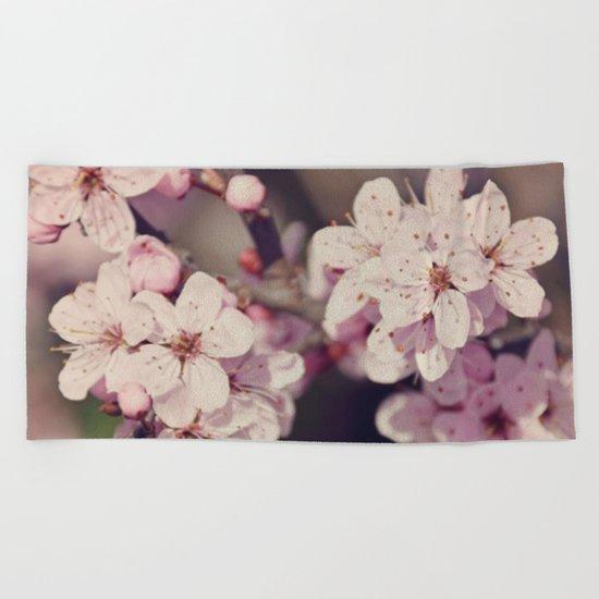 Rose Cherry Blossom Beach Towel
