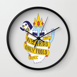 Wizards Only Fools Wall Clock