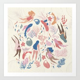 Almost Mermaid Art Print