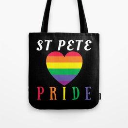 Gay Pride St Pete FL design Parade St Petersburg FL LGBTQ Tote Bag