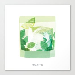 Cocktail Hour: Mojito Canvas Print
