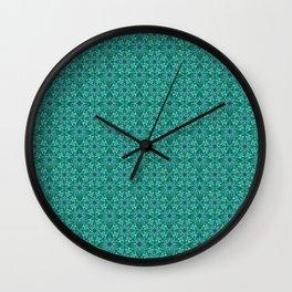 Emerald crystal pattern Wall Clock