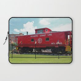 Red Caboose On Display Laptop Sleeve