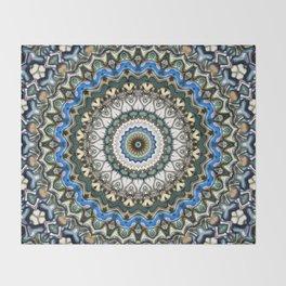 Ornate Colorful Mandala Throw Blanket