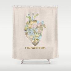 A Traveler's Heart Shower Curtain