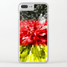 Extruded Flag of Germany Clear iPhone Case