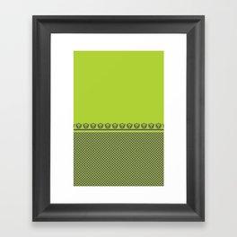 Chartreuse Spring Framed Art Print