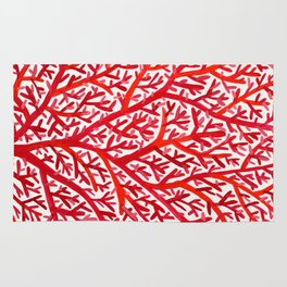 Red Fan Coral Rug