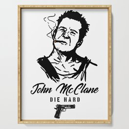 John Mclane, Die hard, Action Hero Serving Tray