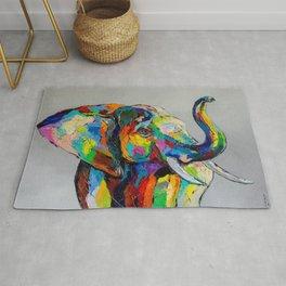 Happy elephant Rug