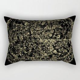 Astro Astronomy Constellations Astrologer Vintage Map Rectangular Pillow