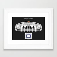 real madrid Framed Art Prints featuring Santiago Bernabéu - Real Madrid Stadium  by Dick Smith Designs