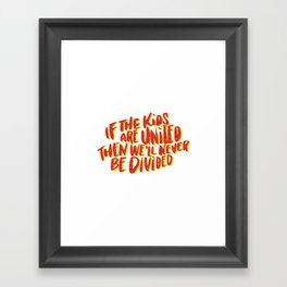 Kids United - White Framed Art Print