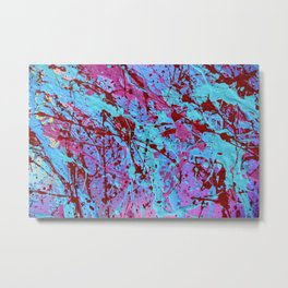 Paint Splatter Print Metal Print