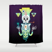 skeleton Shower Curtains featuring Skeleton by Matej