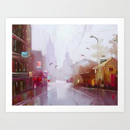 Morning city Art Print