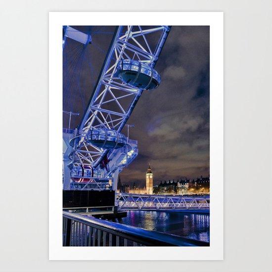 Big City Skyline Art Print
