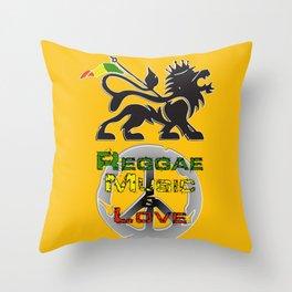 Reggae, Music & Love Throw Pillow