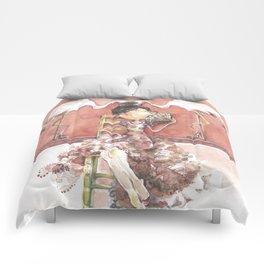 Among Flamingos Comforters