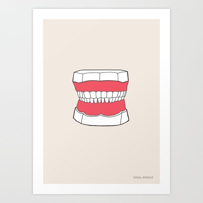 Uzual Teeth Art Print