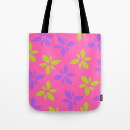 Illustration of flowers(pink background) Tote Bag
