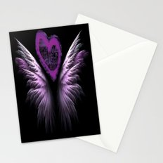Purple Heart Angel Stationery Cards